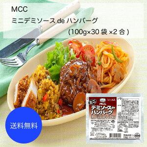 【送料無料】【業務用】【大容量】MCC ミニデミソースdeハンバーグ(100g×30袋×2合)