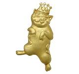 ゴールドブローチ猫マンハッタナーズ