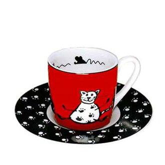 猫茶杯德国、KONITZ Animal Stories Cat浓缩咖啡