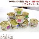 FORZA10|プレミアム ナチュラルグルメ缶 バラエティ12缶セット 75g トラットリアフォルツァ 猫缶 フォルツァ10 缶詰 スープ仕立てのウェットフード 猫用 食べ比べ バラエティセット 一般食