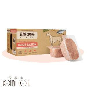 犬用 生食|ビッグドッグ 冷凍生食【タスマニアサーモン 旧フィッシュ】3kg(250g12枚入) 生のドッグフード 総合栄養食 魚 オメガ3とアミノ酸が豊富!BIGDOG 生肉 ローフード
