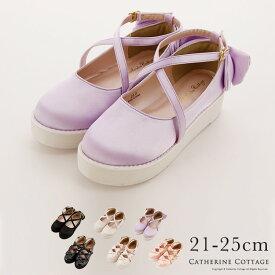 ロリィタ ロマンティックリボン厚底シューズ TAK ロリィタ 靴[靴][フォーマル][シューズ]女の子 キッズ 入学式 卒業式