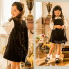 Children dress Alice embroidery broadjanska jumper skirt [kids clothes girls kids baby baby formal black Navy Blue Navy pink light blue winter 80 90 100 110 120 cm graduation ceremony entrance ceremony ceremonial Alice collection with bunny ur]
