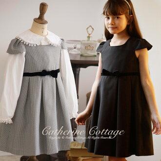 Houndstooth check / Black Dress for children