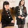 Child girls suit black tweed of the child suit pearl & flower no-collar trouser suit [jacket / underwear] woman