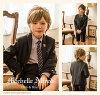 男孩正式的西裝男孩披肩夾克西裝,套 6 [夾克/襯衫/短褲/領帶/口袋/徽章] 753 畢業入學儀式蜜雪兒 · 阿爾弗雷德 ·