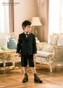 入学式 男の子 スーツ 5点セット キッズスーツ 男児チェック柄2つボタンスーツ (ジャケット・半ズボン・シャツ・ポケ…
