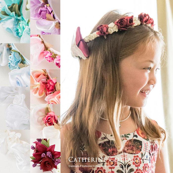 フラワーティアラ 送料無料 アクセサリー エレガントローズフラワーティアラ子供 結婚式 女の子 フラワーガール ヘアアクセサリー クラウン 花冠 リングガール ブライダル ウェディング 子供ドレス に合わせて
