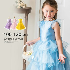 9be5f26183fcc 子供ドレス オーガンジー フリル プリンセス ドレス 子ども キッズ ドレス 100 110 120 130 cm フォーマル
