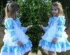 Child one piece Halloween 140cm .150cm of the kids junior miss child dress clothes child dress light blue Alice apron dress disguise Alice costume children's clothes woman