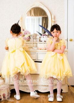 キッズジュニアトドラードレス発表会衣装黄色
