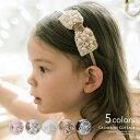 パール&クリスタルベロアリボン カチューシャ [ 子供 キッズ カチューシャ ピアノの発表会 結婚式 白 ピンク 黒 ブラ…