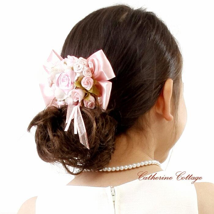 コーム 子供アクセサリー フラワーコーム フォーマル 女の子 キッズ ヘアアクセサリー コサージュ 結婚式 発表会 ピアノ発表会 用 白 ピンク 髪飾り フラワーガール 送料無料