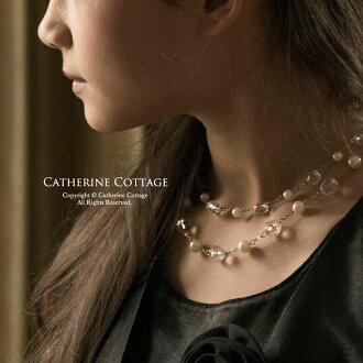 孩子 ドレスクリスタル & 珍珠項鍊
