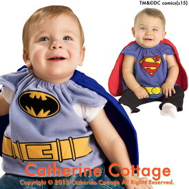 657ecd15953a1f ハロウィン コスプレ ベビー用 コスチューム バットマン スーパーマン [ ハロウィン ベビー 赤ちゃん 子供 スタイ よだれかけ 衣装