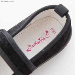 子供フォーマル靴ベルベットシューズ女の子[13141516171819cmブラック黒キャサリンコテージ入学式卒園式卒業式七五三発表会結婚式キッズベビーフォーマル]