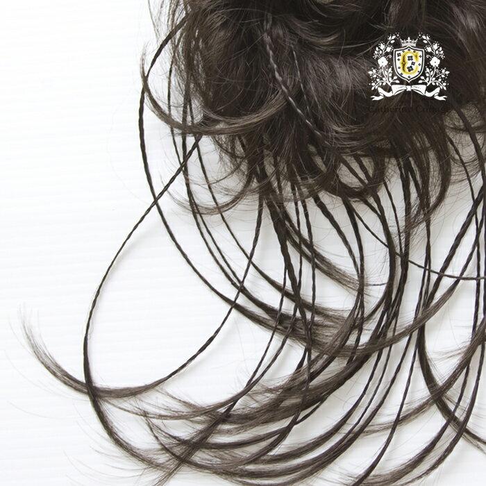 婦人・子供兼用 エクステ つけ毛 ポイントウイッグ ウイッグシュシュ ふんわり華やかなカールヘアーからかわいいみつあみ流れ出ている出ているデザイン。 ヘアアクセサリー ウイッグ [処分価格 返品不可]