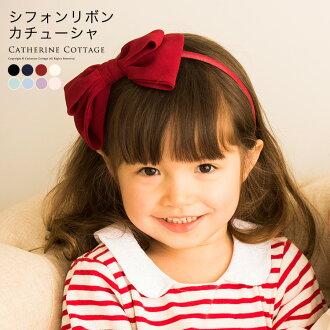 頭髮配件頭帶兒童愛麗絲雪紡重生卡秋莎女孩孩子兒童正式休閒黑色白色紅色粉紅色演示文稿婚禮入口儀式畢業鋼琴演示文稿歌舞伎町紀念