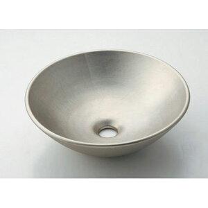 カクダイ KAKUDAI 丸型手洗器//白銀 【493-095-T】 水栓金具・器