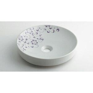 カクダイ KAKUDAI 丸型手洗器//ラベンダー 【493-097-PU】 水栓金具・器