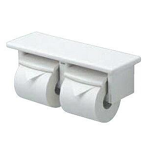 TOTO 【YH74SR】[芯なしペーパー対応タイプ] アクセサリー 棚付二連紙巻器 トイレットペーパーホルダー