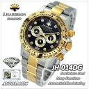 ジョン・ハリソン(J.HARRISON)8石ダイヤモンド付自動巻&手巻腕時計(JH-014DG)