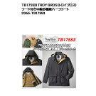 TROYBROS(トロイブロス)TB17553)フード付き中綿多機能ハーフコート