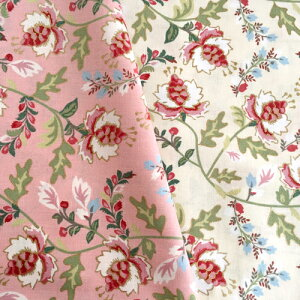 【50cm単位】LECIEN(ルシアン) Madame Fleur by Jera Brndving of Quilting in the Rain コットン シーチングプリント ラメ入りフラワー 綿100%