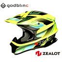 ZEALOT ジーロット オフロードヘルメット フルフェイス MadJumper2 マッドジャンパー2 GRAPHIC FLUO YELLOW/BLK-GREEN S M L X…