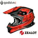 ZEALOT ジーロット オフロードヘルメット カーボン フルフェイス MadJumper2 マッドジャンパー2 CARBON HYBRID STD GRAPHIC RED …
