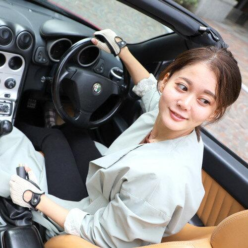ドライビンググローブ/CACAZAN×YUコラボレーション【総手編みニット×鹿革】