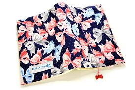 ブックカバーリボン リボーン 布製 和柄文庫本サイズ
