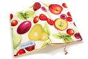 ブックカバー フルーツ盛り合わせ 布製 ポップ 文庫本サイズ