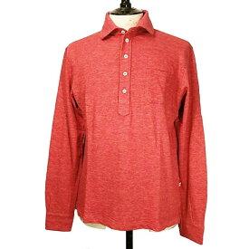 【sale50】DOPPIAA(ドッピアアー)イタリア製 カジュアルシャツ メンズ 【AASCARI】 AA813002-40 レッド 長袖 ジャージ
