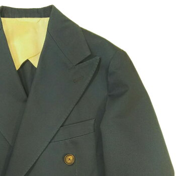 DOPPIAA(ドッピアアー)イタリア製コットンスーツ【AADELFO】シングル3釦段返りセンターベント袖口本開きノープリーツ前立て-ボタンフライAA717001-60