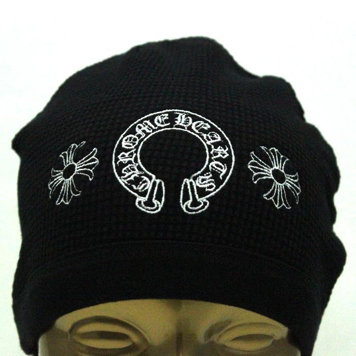 CHROME HEARTS クロムハーツ ニット帽 2238-304-2209 ブラック ホースシュー 帽子キャップ【新品・未使用・正規品】