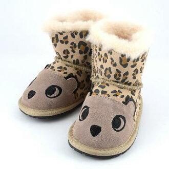 에뮤오스트라리아 EMU B11105-SND≪2015 AW모델≫LC Walker Cheetah 치타 모티프 베이비용 양털부츠