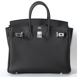 HERMES Hermes Birkin 25cm ブラックトゴシルバー metal fittings bag Birkin bag 25 Black Togo leather Silver bag marketable goods