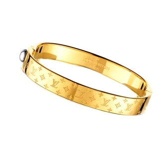 路易 · 威登路易 · 威登 2016年新手镯手镯 M00251 黄色黄金会标纳克 LV