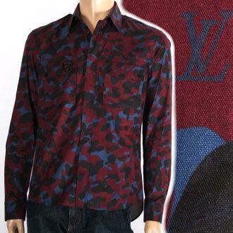 路易 · 威登路易 · 威登有限的长袖衬衫 redcamofra 伪装 1 A10TG 军事制服的男士系列