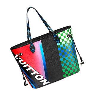 LOUIS VUITTON Louis Vuitton 2017 Cruise-limited ネヴァーフル MM M51301 geometry print tote bag