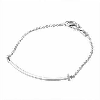 Tiffany TIFFANY&CO 36819529 Tiffany T smile bracelet Small SS 16.5cm