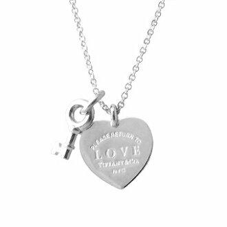 Tiffany Co 36339497 Rtt Return Toe Love Heart Key Pendant Ss 41cm 46cm Necklace