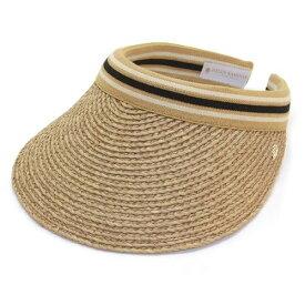 ヘレンカミンスキー Bianca/Nougat/Black Stripe ビアンカ UPF50+ クリップ サンバイザー ラフィア製ハット レディス帽子【r】【新品・未使用・正規品】