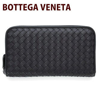 Bottega Veneta (Bottega Veneta) 114076 wallet BOTTEGA VENETA leather leather mens Womens ladies zip around wallet black (black) V001N1000