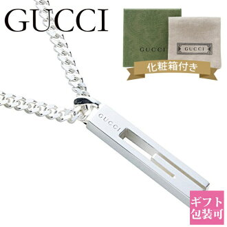 Gucci by GUCCI necklace mens pendant G motif plate tag sterling silver SILVER 925 225055 J 8400 8106
