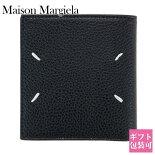 メゾンマルジェラMaisonMargiela財布二つ折りメンズレザーブラック黒BLACKS35UI0438P2686H1669