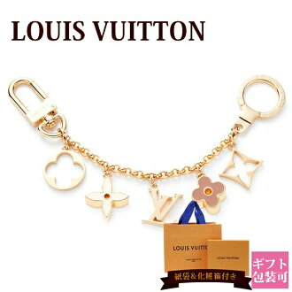 New Louis Vuitton LOUIS VUITTON バッグチャームキーホルダーバッグチャームチェーンフルールドゥモノグラムエナメルゴールド M65111 regular article greeting cards sent in the late summer sale 2017 brand-name products