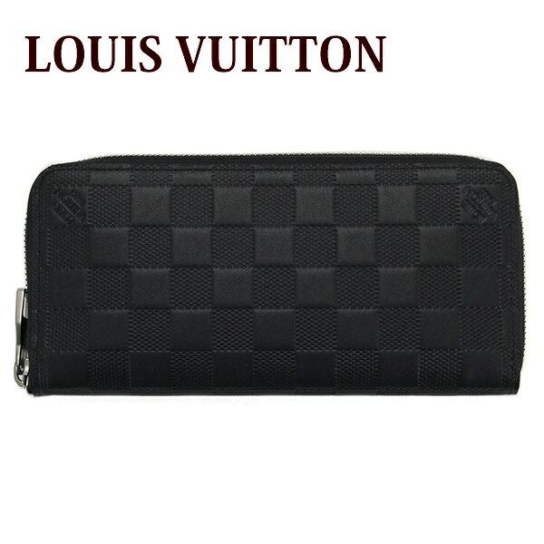 新品 新作 ルイヴィトン Louis Vuitton 財布 長財布 メンズ ラウンドファスナー ダミエ・アンフィニ ジッピーウォレット ヴェルティカル オニキスブラック 黒 N63548 正規品 セール 新生活 入学祝い 2018 ブランド品