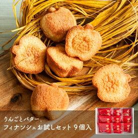 【メール便】 りんごとバター。 フィナンシェお試しセット 9個入 mailbin